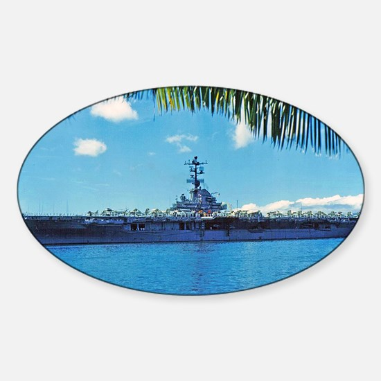 benninton framed panel print Sticker (Oval)
