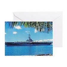 benninton framed panel print Greeting Card