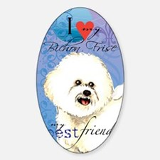 bichon-kindle Sticker (Oval)