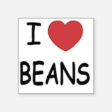"BEANS Square Sticker 3"" x 3"""