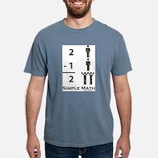 Simple Math Ash Grey T-Shirt