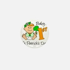 Baby Girl First St Patricks Day Mini Button