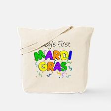 Babys First Mardi Gras Tote Bag
