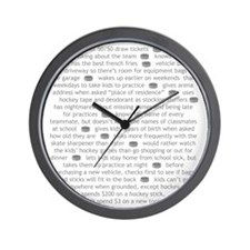 characteristics gray mom Wall Clock