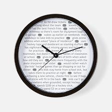 characteristics gray mom Wall Clock