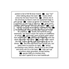 "characteristics mom Square Sticker 3"" x 3"""
