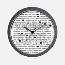 characteristics mom Wall Clock