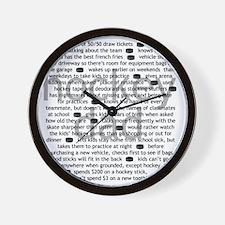 characteristics dad Wall Clock
