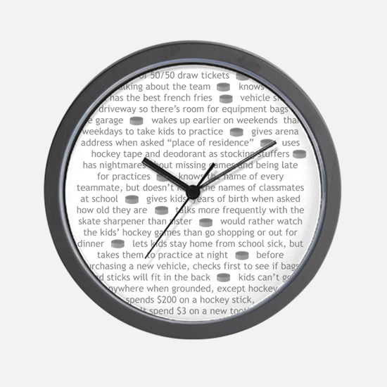 characteristics gray dad Wall Clock
