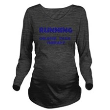 runningTherapyBlue.png Long Sleeve Maternity T-Shi