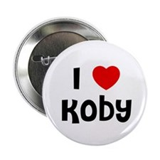 """I * Koby 2.25"""" Button (10 pack)"""