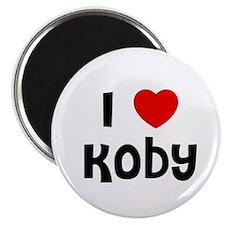 """I * Koby 2.25"""" Magnet (10 pack)"""