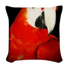Scarlet Macaw Woven Throw Pillow