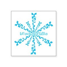 "SnowflakeRetroBreckenridge Square Sticker 3"" x 3"""