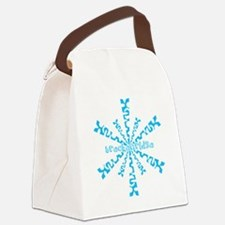 SnowflakeRetroBreckenridge Canvas Lunch Bag