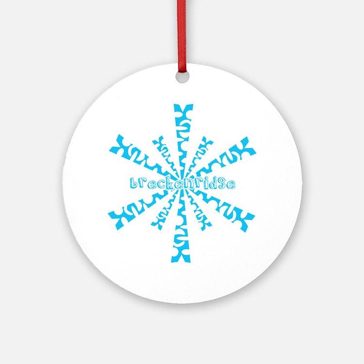 SnowflakeRetroBreckenridge Round Ornament