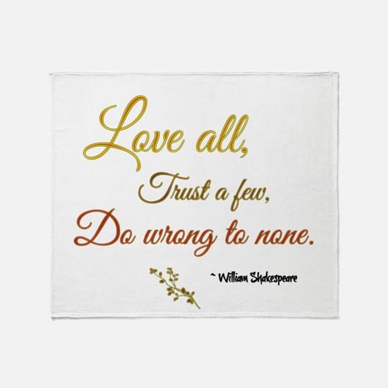 Love All ... Throw Blanket