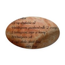 Bread Recipe Oval Car Magnet