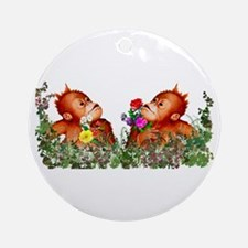 Baby Chimp Love Ornament (Round)
