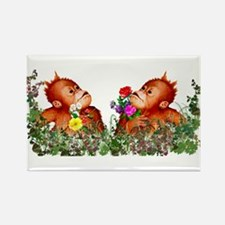 Baby Chimp Love Rectangle Magnet