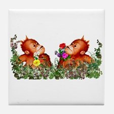 Baby Chimp Love Tile Coaster