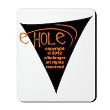 e-hole:back:blk-rd-2012 Mousepad