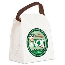 dontdrinkdrivegreenmilkcow Canvas Lunch Bag