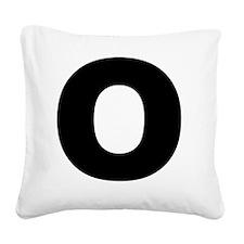 arial-black-black-o Square Canvas Pillow