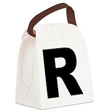 arial-black-black-r Canvas Lunch Bag