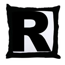 arial-black-black-r Throw Pillow
