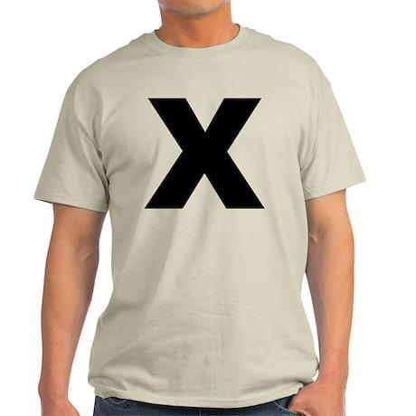 arial-black-black-x Light T-Shirt