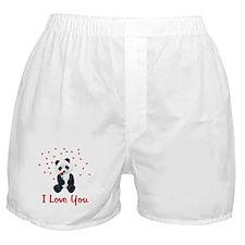 Panda Bear Love Boxer Shorts
