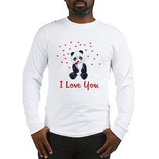 Panda Bear Love Long Sleeve T-Shirt