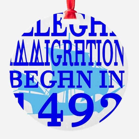 1492-blue-bb-blue Ornament