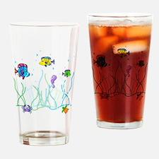 Under the Sea Design Drinking Glass