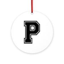 P Ornament (Round)
