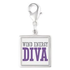 Wind Energy DIVA Silver Square Charm