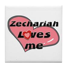 zechariah loves me  Tile Coaster