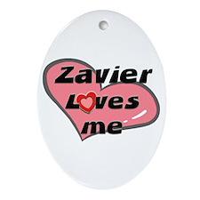 zavier loves me  Oval Ornament