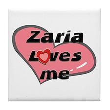 zaria loves me  Tile Coaster