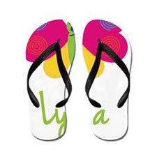 Lydia-the-butterfly Flip Flops