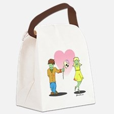 Zombie Love Large Canvas Lunch Bag