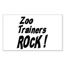 Zoo Trainers Rock ! Rectangle Decal