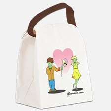 Zombie Valentine Small Canvas Lunch Bag