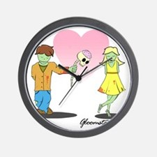 Zombie Valentine Small Wall Clock