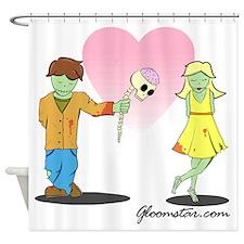 Zombie Valentine Small Shower Curtain