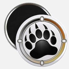 Bear Paw In Pride Circle Magnet