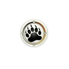 Bear Paw In Pride Circle Mini Button