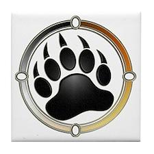 Bear Paw In Pride Circle Tile Coaster