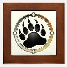 Bear Paw In Pride Circle Framed Tile